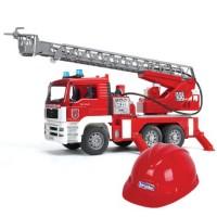 Пожарная машина MAN с лестницей + Каска красная 01-981...