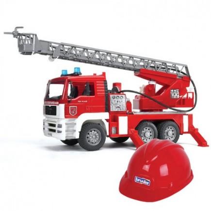 Пожарная машина MAN с лестницей + Каска красная Bruder (Брудер) (Арт. 01-981, 01981)