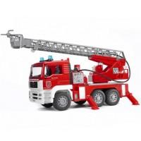 Пожарная машина MAN с лестницей и помпой Bruder 02-771...