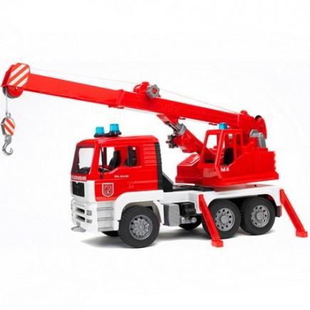 Пожарная машина автокран MAN с модулем со световыми и звуковыми эффектами Bruder (Брудер) (Арт. 02-770, 02770)