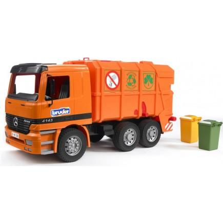 Мусоровоз Mercedes Bruder и набор мусорных баков 01-667 + 02-607