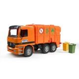 Мусоровоз Mercedes (цвет оранжевый) Bruder 01-667