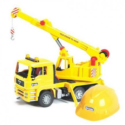 Автокран MAN + Каска жёлтая Bruder (Брудер) (Арт. 01-973 01973)