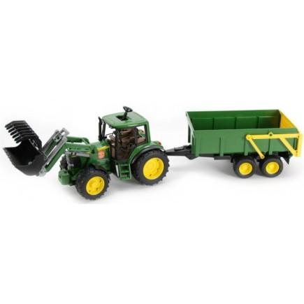 Трактор John Deere 6920 с погрузчиком и прицепом Bruder 01-134