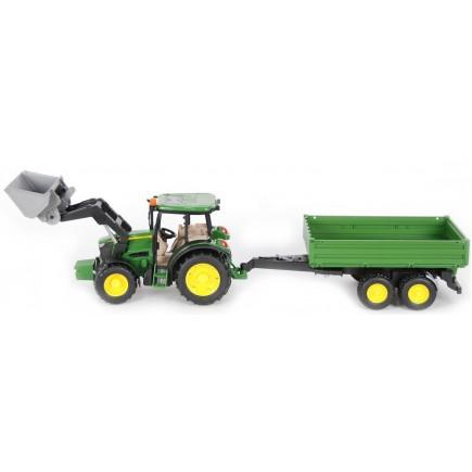 Трактор John Deere M5115 с погрузчиком и прицепом Bruder 01-793