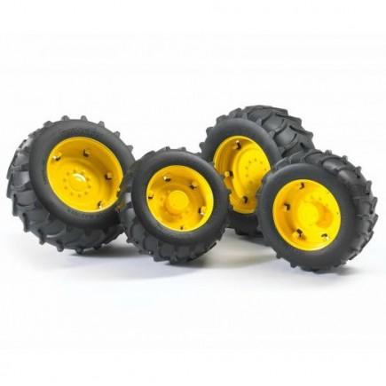 Шины для системы сдвоенных колёс с жёлтыми дисками Bruder (Брудер) (Арт. 02-012 02012) (Аксессуары A)