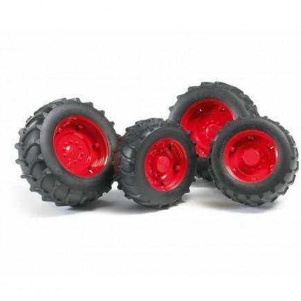 Шины для системы сдвоенных колёс с красными дисками Bruder (Брудер) (Арт. 02-013 02013) (Аксессуары A)
