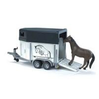 Прицеп-коневозка с лошадью Bruder 02-028