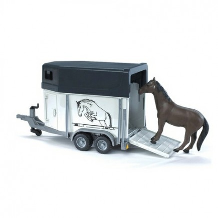 Прицеп-коневозка с лошадью Bruder (Брудер) (Арт. 02-028 02028)