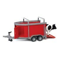Прицеп для перевозки крупного рогатого скота с коровой Bruder 02-029...