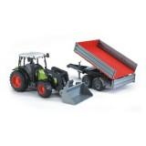 Трактор Claas Nectis 267 F с погрузчиком и прицепом Bruder 02-112...