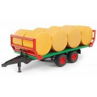 Прицеп Bruder для перевозки рулонов сена с 8 рулонами 02-220...