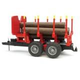 Прицеп для перевозки леса с брёвнами Bruder 02-251...
