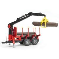Прицеп для перевозки леса с манипулятором и брёвнами Bruder (Брудер) (Арт. 02-25...