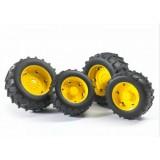 Шины для системы сдвоенных колёс с жёлтыми дисками 4шт. Bruder 02-321...