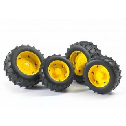 Шины для системы сдвоенных колёс с жёлтыми дисками 4шт. Bruder (Брудер) (Арт. 02-321 02321) (Аксессуары A)