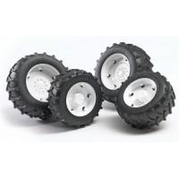 Колеса Bruder с белыми дисками к тракторам серии 2000 02-323...