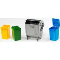 Аксессуары F: набор мусорных баков 02-607