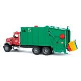 Мусоровоз MACK (зелёный фургон, красная кабина) Bruder 02-812...