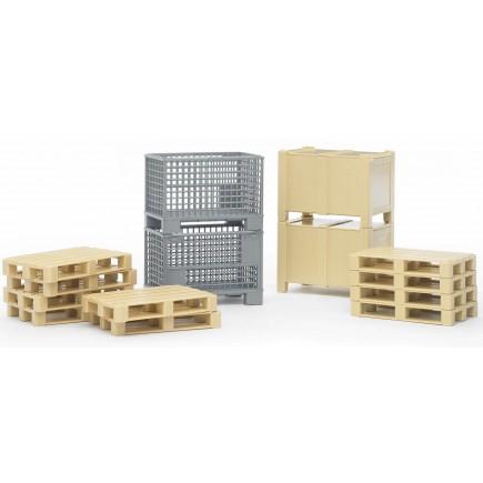 Логистический набор Bruder (ящики и паллеты) 02-415