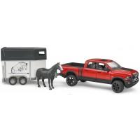 Пикап RAM 2500 c коневозкой и одной лошадкой Bruder 02-501...