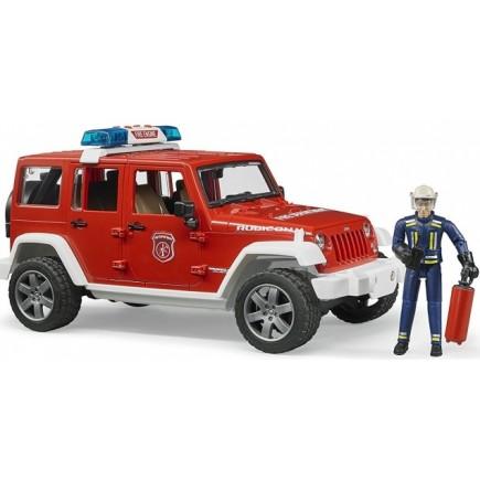 Внедорожник Bruder Jeep Wrangler Unlimited Rubicon Пожарная с фигуркой 02-528