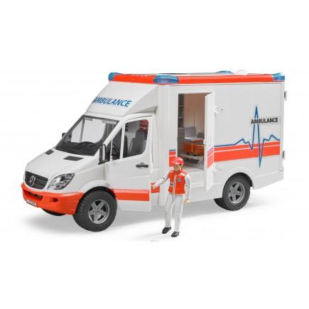 MB Sprinter скорая помощь с фигуркой водителя Bruder 02-536