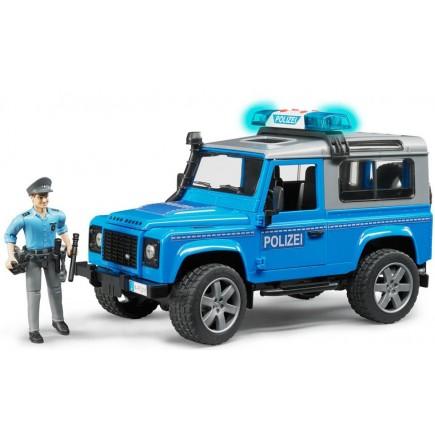 Полицейский джип Bruder Land Rover Defender Station Wagonс фигуркой 02-597
