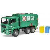 Мусоровоз Bruder Man Tga Зеленый и набор мусорных баков 02-753 + 02-607...