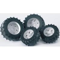 Шины для системы сдвоенных колёс с белыми дисками 4шт. Bruder: 03-301...