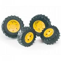 Шины для системы сдвоенных колёс с жёлтыми дисками 4шт. Bruder 03-304...