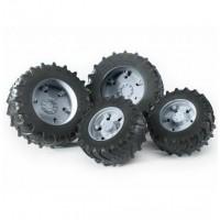 Шины для системы сдвоенных колёс с серыми дисками 4шт. Bruder 03-305...