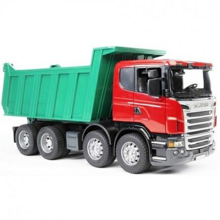 Самосвал Scania (подходит модуль со звуком и светом Bruder (Брудер) (Арт. 03-550 03550)