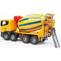 Бетономешалка Scania (цвет жёлто синий) Bruder 03-554