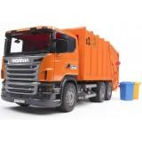 Мусоровоз Scania Bruder и набор мусорных баков 03-560 + 02-607...