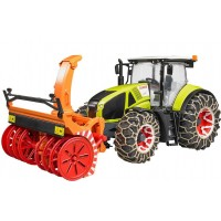 Трактор Claas Axion 950 c цепями и снегоочистителем Bruder 03-017...