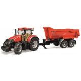 Трактор Case IH Optum 300 CVX с прицепом Krampe Tandem-Halfpipe Bruder 03-199...