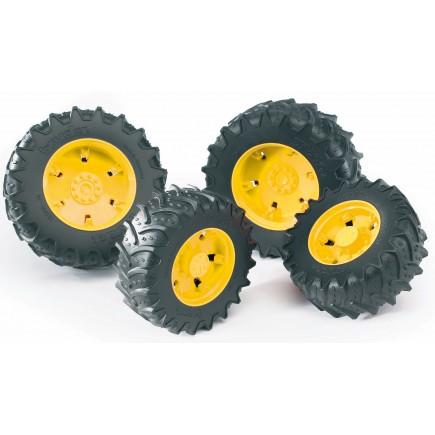 Колеса Bruder с желтыми дисками к тракторам серии 3000 03-314