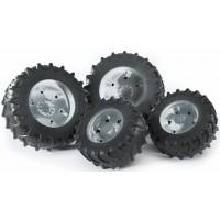 Колеса Bruder с серебристыми дисками к тракторам серии 3000 03-317...