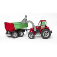 ROADMAX Трактор с ковшом и прицепом Bruder 20-116