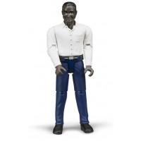 Фигурка мужчины африканец в синих джинсах Bruder 60-004...