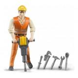 Фигурка строителя с аксессуарами Bruder 60-020