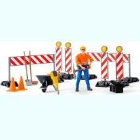 Набор знаков дорожных работ с фигуркой рабочего Bruder 62-000...