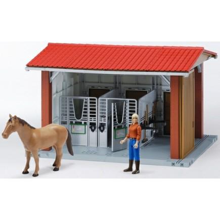Конюшня с всадницей и лошадью (разм.48*36*31см) Bruder (Брудер) (Арт. 62-520 62520)