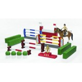 Большой набор для скачек с фигуркой всадницы и лошадью Bruder 62-530...